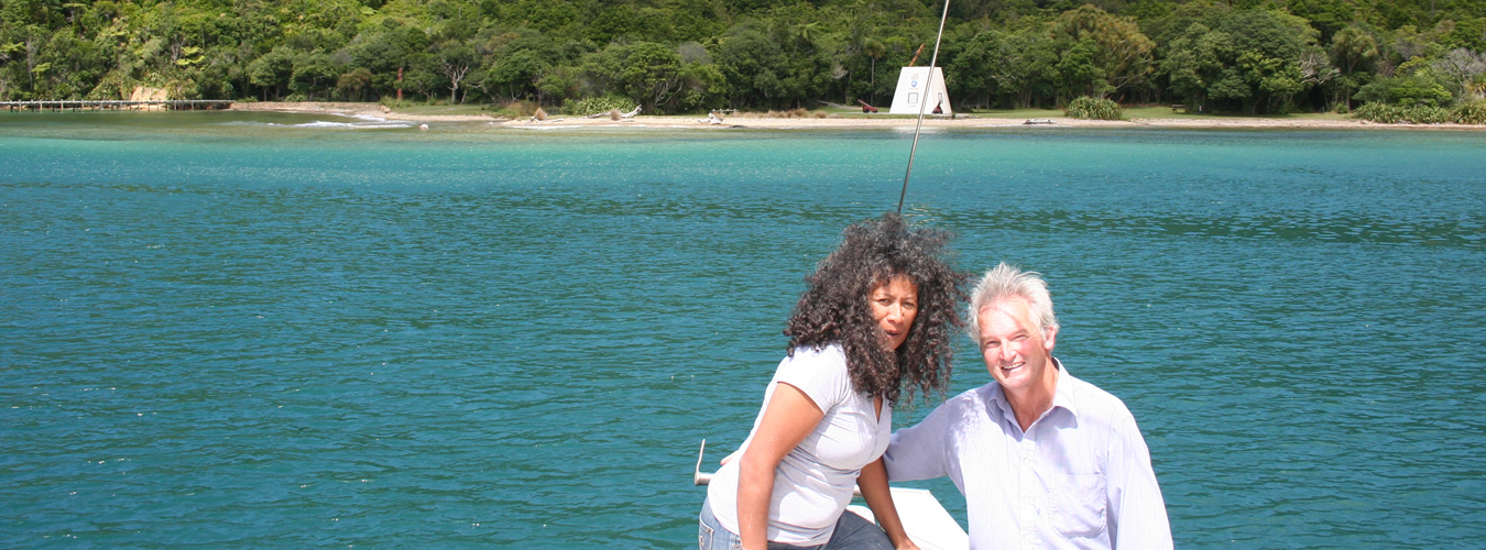 Peter And Takutai Of Maori Eco Cruises In Marlborough Sounds NZ